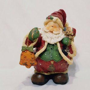 Santa Claus Bag of Toys Figurine Bell Ornament